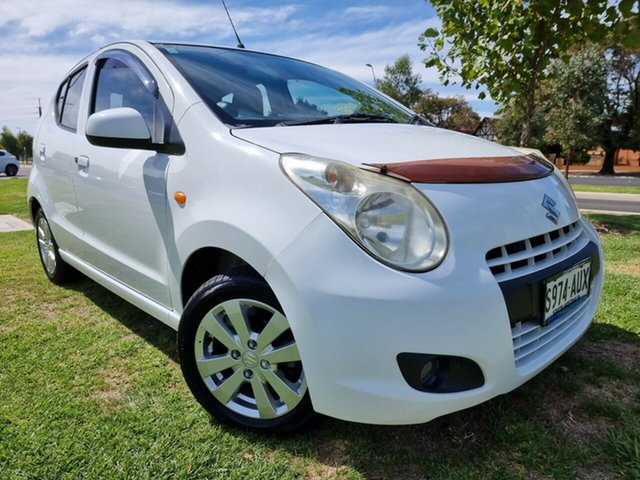 Used Suzuki Alto GF GLX Hindmarsh, 2012 Suzuki Alto GF GLX White 5 Speed Manual Hatchback