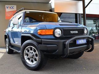 2013 Toyota FJ Cruiser GSJ15R Blue 5 Speed Automatic Wagon.