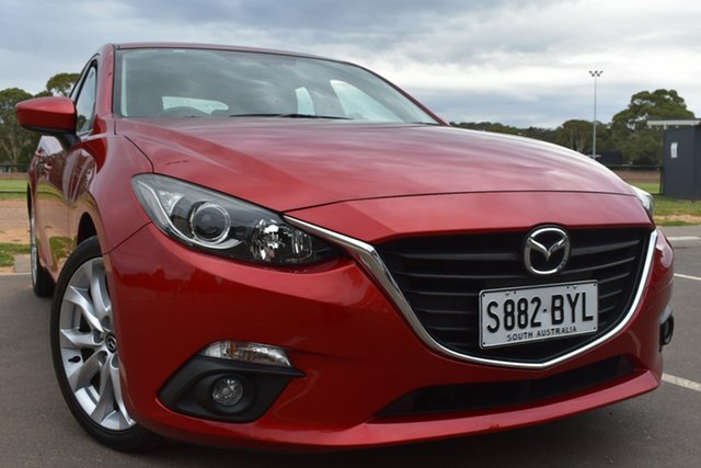 Used Mazda 3 BM5238 SP25 SKYACTIV-Drive St Marys, 2015 Mazda 3 BM5238 SP25 SKYACTIV-Drive Red 6 Speed Sports Automatic Sedan
