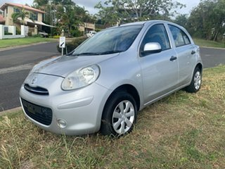2011 Nissan Micra Silver Automatic Hatchback.