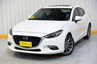2017 Mazda 3 BN5438 SP25 SKYACTIV-Drive Astina White 6 Speed Sports Automatic Hatchback.