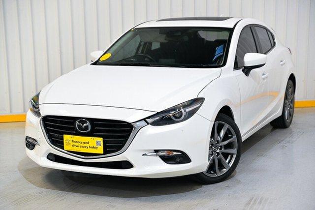 Used Mazda 3 BN5438 SP25 SKYACTIV-Drive Astina Hendra, 2017 Mazda 3 BN5438 SP25 SKYACTIV-Drive Astina White 6 Speed Sports Automatic Hatchback