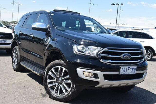 Used Ford Everest UA II 2020.25MY Titanium Essendon Fields, 2019 Ford Everest UA II 2020.25MY Titanium Black 10 Speed Sports Automatic SUV