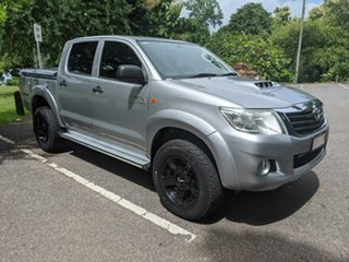 2015 Toyota Hilux KUN26R MY14 SR Double Cab Silver 5 Speed Manual Utility.