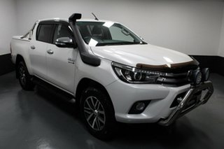 2016 Toyota Hilux GUN126R SR5 Double Cab White 6 Speed Manual Utility.