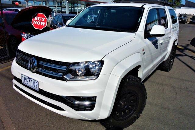 Used Volkswagen Amarok 2H MY18 TDI550 4MOTION Perm Sportline Seaford, 2017 Volkswagen Amarok 2H MY18 TDI550 4MOTION Perm Sportline White 8 Speed Automatic Utility