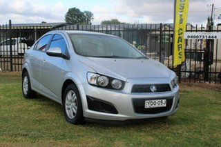 2014 Holden Barina TM MY14 CD Silver 5 Speed Manual Sedan.