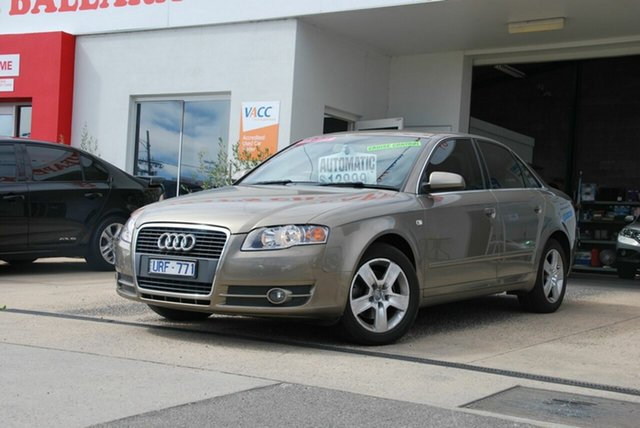 Used Audi A4 B7 1.8T Wendouree, 2006 Audi A4 B7 1.8T Cream CVT Multitronic Sedan