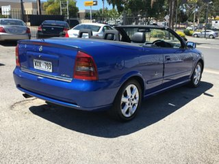2002 Holden Astra TS Blue 5 Speed Manual Convertible.