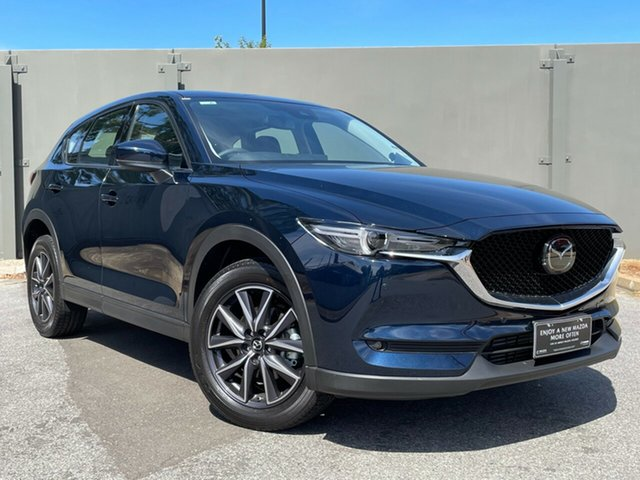 Demo Mazda CX-5 KF4W2A GT SKYACTIV-Drive i-ACTIV AWD Hindmarsh, 2020 Mazda CX-5 KF4W2A GT SKYACTIV-Drive i-ACTIV AWD Deep Crystal Blue 6 Speed Sports Automatic