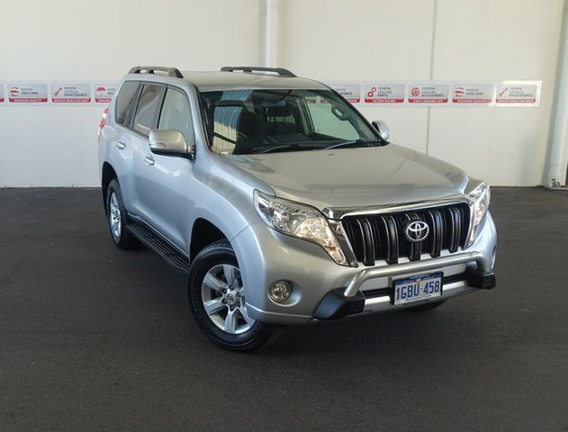 Pre-Owned Toyota Landcruiser Prado GRJ150R MY16 GXL (4x4) Rockingham, 2016 Toyota Landcruiser Prado GRJ150R MY16 GXL (4x4) Silver Pearl 6 Speed Automatic Wagon