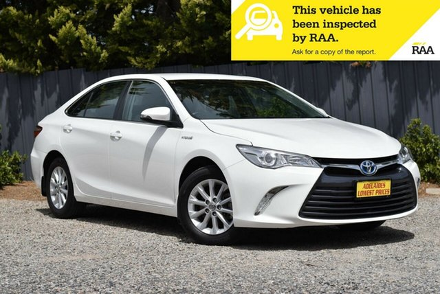 Used Toyota Camry AVV50R Altise Morphett Vale, 2017 Toyota Camry AVV50R Altise White 1 Speed Constant Variable Sedan Hybrid