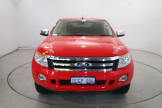 2013 Ford Ranger PX XLT Double Cab True Red 6 Speed Sports Automatic Utility.