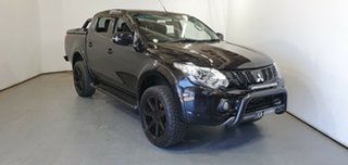 2018 Mitsubishi Triton MQ MY18 Blackline Double Cab Black 5 Speed Sports Automatic Utility