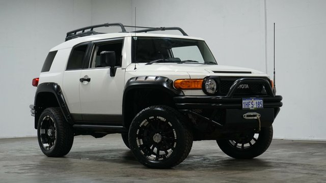 Used Toyota FJ Cruiser GSJ15R Welshpool, 2012 Toyota FJ Cruiser GSJ15R White 5 Speed Automatic Wagon