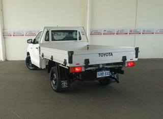 2018 Toyota Hilux TGN121R Workmate 4x2 Glacier White 5 Speed Manual Cab Chassis