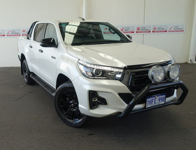 Pre-Owned Toyota Hilux GUN126R MY19 Rogue (4x4) Rockingham, 2018 Toyota Hilux GUN126R MY19 Rogue (4x4) Crystal Pearl 6 Speed Automatic Double Cab Pick Up