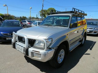 2002 Toyota Landcruiser Prado VZJ95R GXL (4x4) Silver 4 Speed Automatic 4x4 Wagon.