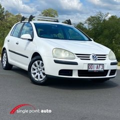 2005 Volkswagen Golf V Comfortline White 6 Speed Manual Hatchback.