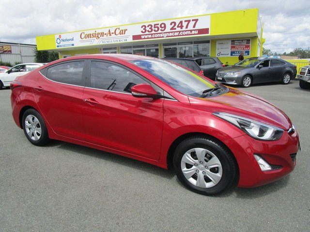 Used Hyundai Elantra MD3 Active Kedron, 2014 Hyundai Elantra MD3 Active Red 6 Speed Sports Automatic Sedan