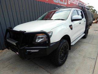 2014 Ford Ranger PX XLS Double Cab White 6 Speed Manual Utility.