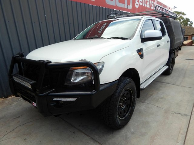 Used Ford Ranger PX XLS Double Cab Blair Athol, 2014 Ford Ranger PX XLS Double Cab White 6 Speed Manual Utility