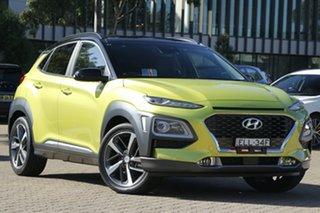 2020 Hyundai Kona OS.3 MY20 Highlander TTR YEL (FWD) Acid Yellow 6 Speed Automatic Wagon.