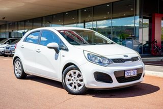 2013 Kia Rio UB MY13 S White 4 Speed Sports Automatic Hatchback.