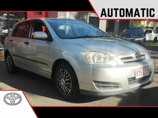 2005 Toyota Corolla ZZE122R 5Y Ascent Metallic Silver 4 Speed Automatic Hatchback.