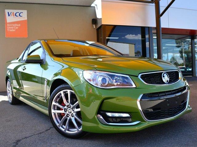 Used Holden Ute VF II MY16 SV6 Ute Fawkner, 2015 Holden Ute VF II MY16 SV6 Ute Green 6 Speed Manual Utility