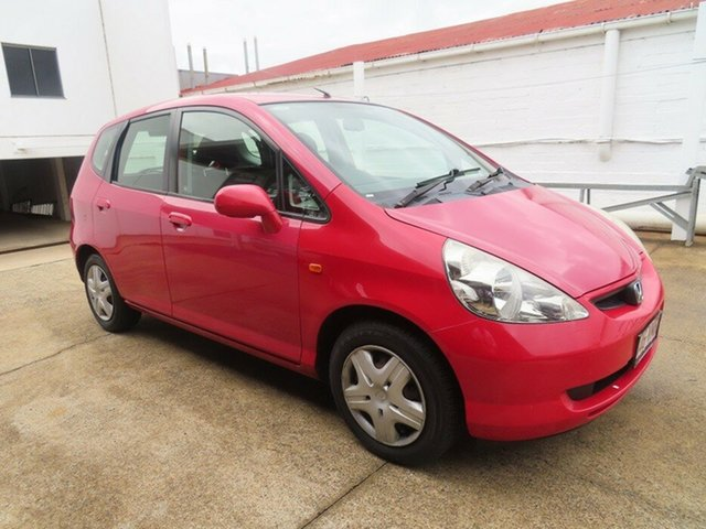 Used Honda Jazz VTi Toowoomba, 2004 Honda Jazz VTi Red 5 Speed Manual Hatchback