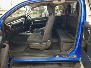 2017 Toyota Hilux GUN126R SR5 Extra Cab Nebula Blue 6 Speed Manual Utility