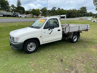 2001 Toyota Hilux RZN147R MY02 Workmate 4x2 White 5 Speed Manual Cab Chassis