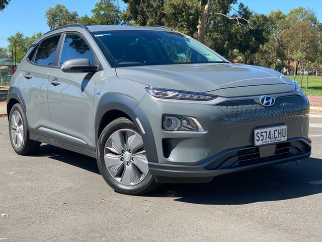 Demo Hyundai Kona OSEV.2 MY20 electric Elite Nailsworth, 2020 Hyundai Kona OSEV.2 MY20 electric Elite Galactic Grey 1 Speed Reduction Gear Wagon