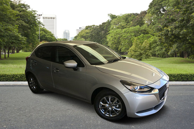 Demo Mazda 2 DJ2HAA G15 SKYACTIV-Drive Pure Paradise, 2020 Mazda 2 DJ2HAA G15 SKYACTIV-Drive Pure Sonic Silver 6 Speed Sports Automatic Hatchback