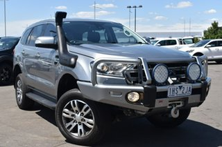2016 Ford Everest UA Trend Silver, Chrome 6 Speed Sports Automatic SUV.