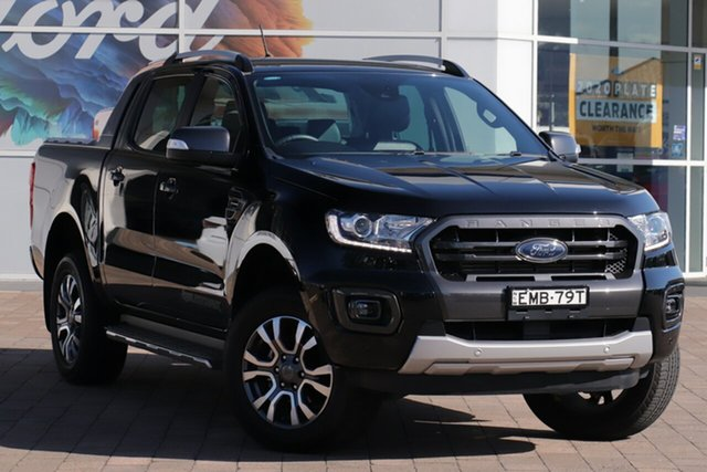 Used Ford Ranger PX MkIII 2019.75MY Wildtrak Warwick Farm, 2019 Ford Ranger PX MkIII 2019.75MY Wildtrak Black 10 Speed Sports Automatic Double Cab Pick Up
