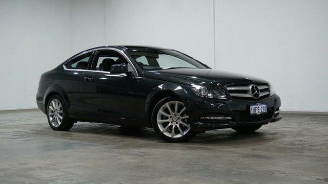 Used Mercedes-Benz C-Class C204 MY13 C180 BlueEFFICIENCY 7G-Tronic + Welshpool, 2012 Mercedes-Benz C-Class C204 MY13 C180 BlueEFFICIENCY 7G-Tronic + Magnetite Black 7 Speed