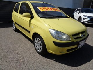 2008 Hyundai Getz TB MY07 SX Yellow 5 Speed Manual Hatchback.