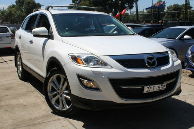Used Mazda CX-9 MY13 Grand Touring West Footscray, 2012 Mazda CX-9 MY13 Grand Touring White 6 Speed Auto Activematic Wagon