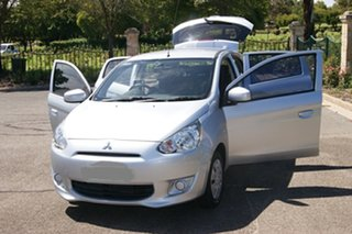 2013 Mitsubishi Mirage LA ES Silver 5 Speed Manual Hatchback