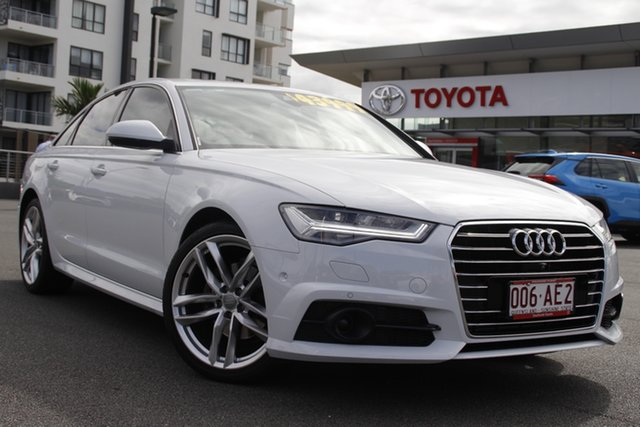 Pre-Owned Audi A6 4G MY17 S Tronic Upper Mount Gravatt, 2016 Audi A6 4G MY17 S Tronic White 7 Speed Sports Automatic Dual Clutch Sedan
