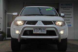 2011 Mitsubishi Triton MN MY11 GLX-R (4x4) White 5 Speed Automatic 4x4 Double Cab Utility.