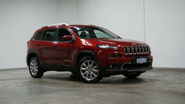 Used Jeep Cherokee KL MY15 Limited Welshpool, 2015 Jeep Cherokee KL MY15 Limited Red 9 Speed Sports Automatic Wagon