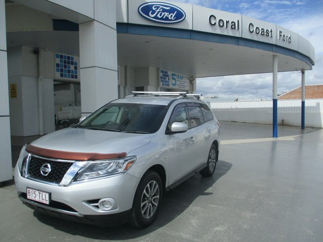 Used Nissan Pathfinder R52 ST (4x2) Bundaberg, 2013 Nissan Pathfinder R52 ST (4x2) Silver Continuous Variable Wagon