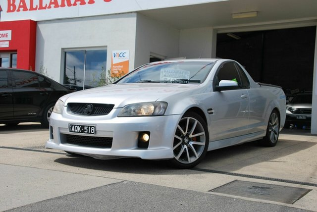 Used Holden Commodore VE SV6 60th Anniversary Wendouree, 2008 Holden Commodore VE SV6 60th Anniversary Silver 6 Speed Manual Utility