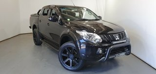2018 Mitsubishi Triton MQ MY18 Blackline Double Cab Black 5 Speed Sports Automatic Utility.