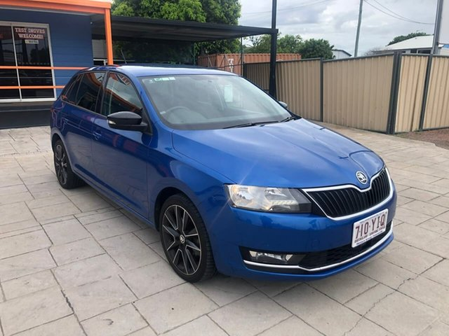 Used Skoda Rapid NH MY19 Spaceback DSG Mundingburra, 2018 Skoda Rapid NH MY19 Spaceback DSG Blue 7 Speed Sports Automatic Dual Clutch Hatchback