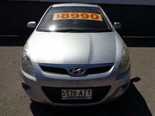2010 Hyundai i20 PB Active Silver 5 Speed Manual Hatchback.