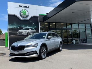 2020 Skoda Superb NP MY20.5 200TSI DSG Scout Silver 7 Speed Sports Automatic Dual Clutch Wagon.